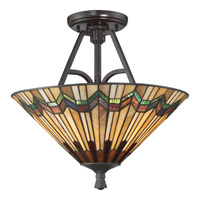 Quoizel Alcott 2 Light Semi-Flush Mount in Valiant Bronze TFAT1716VA