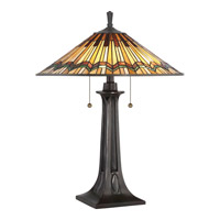 Quoizel TFAT6325VA Alcott 25 inch Valiant Bronze Table Lamp Portable Light, Naturals