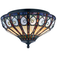 Quoizel Lighting Ava 2 Light Flush Mount in Vintage Bronze TFAV1714VB