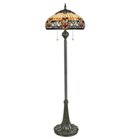 Belle Fleur 62 inch 100 watt Vintage Bronze Floor Lamp Portable Light, Naturals