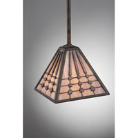 Quoizel Lighting Banks 1 Light Mini Pendant in Indio Bronze TFBK1507IO alternative photo thumbnail