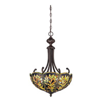 Quoizel Belle 3 Light Pendant in Imperial Bronze TFBL2818IB