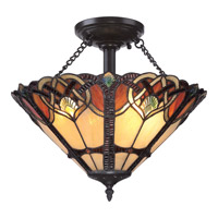 Quoizel Cambridge 2 Light Semi-Flush Mount in Vintage Bronze TFCB1716VB