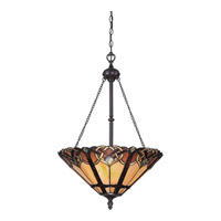 Quoizel Cambridge 3 Light Pendant in Vintage Bronze TFCB1820VB