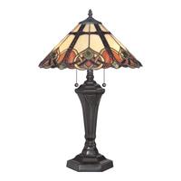 Quoizel Cambridge 2 Light Table Lamp in Vintage Bronze TFCB6325VB