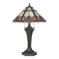 Cambridge 24 inch 75 watt Vintage Bronze Table Lamp Portable Light, Naturals