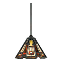 Quoizel Lighting Classic Craftsman 1 Light Mini Pendant in Valiant Bronze TFCC1508VA