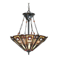 Quoizel Lighting Classic Craftsman 3 Light Pendant in Valiant Bronze TFCC2822VA alternative photo thumbnail
