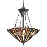 Quoizel Lighting Classic Craftsman 3 Light Pendant in Valiant Bronze TFCC2822VA