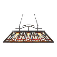Quoizel Classic Craftsman 3 Light Island Chandelier in Valiant Bronze TFCC348VA