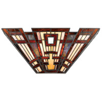 Quoizel TFCC8802 Classic Craftsman 2 Light 16 inch Valiant Bronze Wall Sconce Wall Light, Naturals