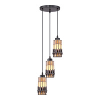 Quoizel Chastain 3 Light Mini Pendant in Vintage Bronze TFCS1510VB