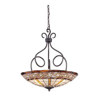 Quoizel Lighting Cross Weave 4 Light Pendant in Imperial Bronze TFCW2824IB