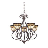 Quoizel Lighting Cross Weave 5 Light Chandelier in Imperial Bronze TFCW5005IB