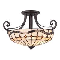 Quoizel Dayton 2 Light Semi-Flush Mount in Imperial Bronze TFDN1716IB