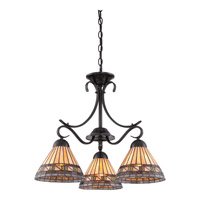 Quoizel Estacado 3 Light Chandelier in Vintage Bronze TFEC5103VB