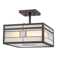Quoizel Lighting Finley 2 Light Semi-Flush Mount in Western Bronze TFFN1712WT photo thumbnail