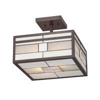 Quoizel Lighting Finley 2 Light Semi-Flush Mount in Western Bronze TFFN1712WT alternative photo thumbnail