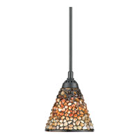 Quoizel Lighting Fossil Stone 1 Light Mini Pendant in Vintage Bronze TFFS1507VB alternative photo thumbnail