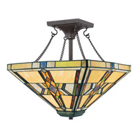 Quoizel Lighting Finton 2 Light Semi-Flush Mount in Vintage Bronze TFFT1714VB