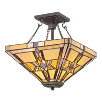 Quoizel Lighting Finton 2 Light Semi-Flush Mount in Vintage Bronze TFFT1714VB alternative photo thumbnail