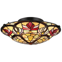 Quoizel TFGD1617VB Garland 2 Light 17 inch Vintage Bronze Flush Mount Ceiling Light, Naturals