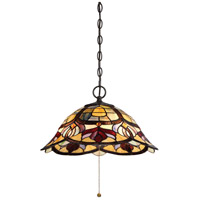 Quoizel TFGD1820VB Garland 3 Light 20 inch Vintage Bronze Pendant Ceiling Light Naturals