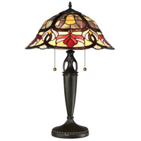 Quoizel TFGD6324VB Garland 24 inch 75 watt Vintage Bronze Table Lamp Portable Light, Naturals
