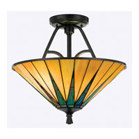 Quoizel Lighting Gotham 2 Light Semi-Flush Mount in Vintage Bronze TFGO1717VB