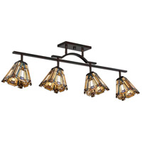Quoizel TFIK1404VA Inglenook 4 Light 120V Valiant Bronze Track Light Ceiling Light, Naturals