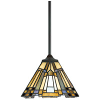 Quoizel TFIK1508VA Inglenook 1 Light 8 inch Valiant Bronze Mini Pendant Ceiling Light, Naturals