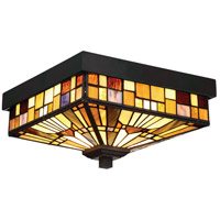 Quoizel TFIK1611VA Inglenook 2 Light 11 inch Valiant Bronze Outdoor Flush Mount  photo thumbnail