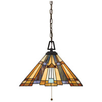 Quoizel TFIK1817VA Inglenook 3 Light 17 inch Valiant Bronze Pendant Ceiling Light, Naturals