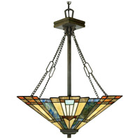 Inglenook 3 Light 18 inch Valiant Bronze Pendant Ceiling Light