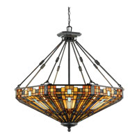 Quoizel Inglenook Pendant 8 Light in Valiant Bronze TFIK2842VA
