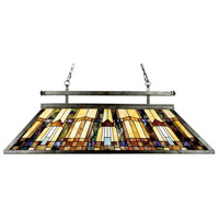 Quoizel TFIK348VA Inglenook 3 Light 48 inch Valiant Bronze Island Chandelier Ceiling Light, Naturals