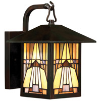 Inglenook 1 Light 11 inch Valiant Bronze Outdoor Wall Lantern in Incandescent, Naturals