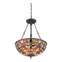 Quoizel Kami 3 Light Pendant in Vintage Bronze TFKM2820VB