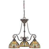 Kami 3 Light 25 inch Vintage Bronze Dinette Chandelier Ceiling Light, Naturals