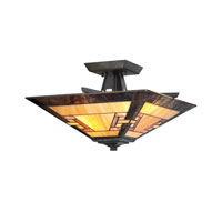 Quoizel Lighting Kennedy 2 Light Semi-Flush Mount in Imperial Bronze TFKY1715IB