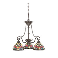 Quoizel Lighting Larissa 3 Light Chandelier in Vintage Bronze TFLR5103VB