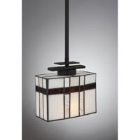 Quoizel Lighting Luxe 1 Light Mini Pendant in Mystic Black TFLU1508K alternative photo thumbnail