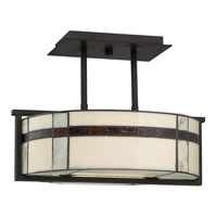Quoizel Lighting Luxe 3 Light Semi-Flush Mount in Mystic Black TFLU1716K alternative photo thumbnail