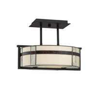Quoizel Lighting Luxe 3 Light Semi-Flush Mount in Mystic Black TFLU1716K photo thumbnail