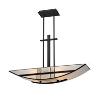 Quoizel Luxe 4 Light Island Chandelier in Mystic Black TFLU433K