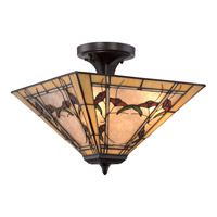 Monteclaire 2 Light 15 inch Western Bronze Semi-Flush Mount Ceiling Light in A19 Medium Base