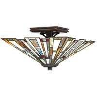 Quoizel TFMK1714VA Maybeck 2 Light 15 inch Valiant Bronze Semi-Flush Mount Ceiling Light