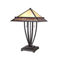 Quoizel Lighting Mason 2 Light Table Lamp in Vintage Bronze TFMN6324VB
