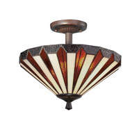 Quoizel Lighting Marquis 2 Light Semi-Flush Mount in Russet TFMS1714RS