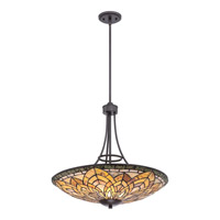 Quoizel Marietta 3 Light Pendant in Imperial Bronze TFMT2824IB